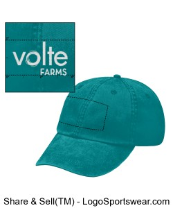 Teal Washed Pigment-Dyed Cap Design Zoom